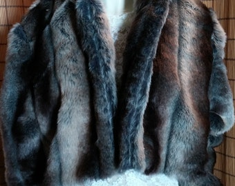 Faux Fur Bolero Style Jacket