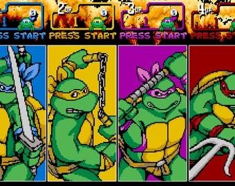 Video Game Print - TMNT - The Arcade Game - Digital Art Print