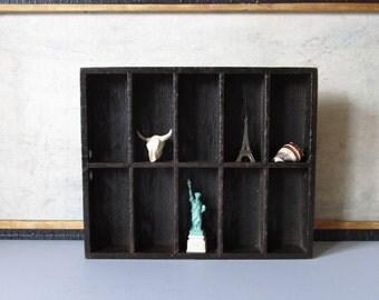 Vintage wooden drawer, wooden box, industrial drawer, minimalist decor, vintage display wooden box, display drawer