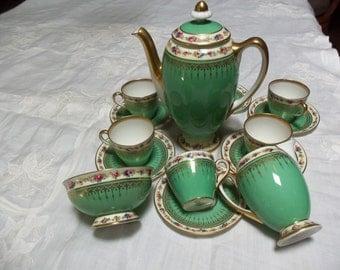 15 Piece Royal Doulton Tea Set/Circa 1932 / Teapot /Demitasse Cups And Saucers /Dinnerware Set/Cabinet Display /Wedding Gift/Tea Party