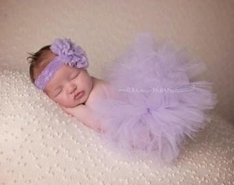 Newborn tutu set, newborn tutu, baby tutu set, baby tutu, newborn photo prop, lavender tutu set, lavender tutu, lilac tutu set, lilac tutu
