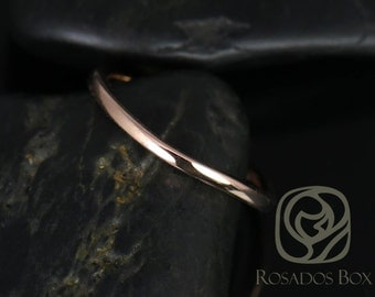 Rosados Box 14kt Rose Gold Matching Band to Khaleesi 7.5mm PLAIN Band