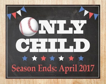Baseball Pregnancy Announcement Sign PRINTABLE new baby chalkboard poster sports only child