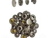 12.5mm Antique Nickel Spring Snap - 10 Pack #115-125107