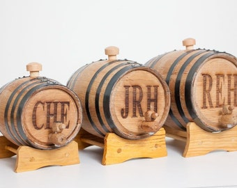 Whiskey Barrel Groomsmen Gift - Gifts for Groomsmen - Gift for Man - Engraved Bourbon Barrel - Available in 3 Sizes ~ Free Personalization