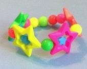 Galactic Rainbow - Neon Star Stretch Bracelet