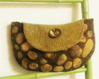 Felted bag - Women bag - Textil bag - Small bag - Women brown bag