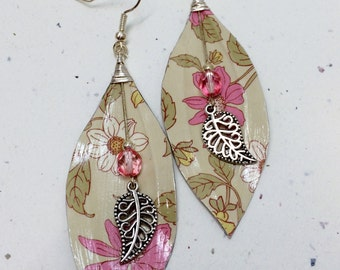 Paper Leaf Dangle Earrings