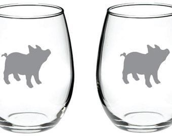 Pig Glass FREE Personalization