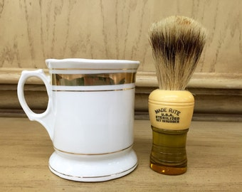 Vintage Made Rite Shaving Brush and shave cup