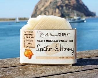 Leather & Honey Goat's Milk Soap