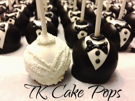 bride and groom wedding cake pops and groom cake pops wedding cake pops by tkcakepops 12123