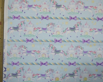 Classical and Modern Japanese Fabric  / Unicorn Oxford Fabric Blue - 50cm x 110cm