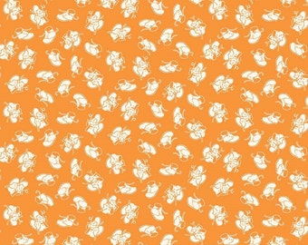 Fat Quarter Toy Chest Baby Shoes Orange 100% Cotton Quilting Fabric Penny Rose
