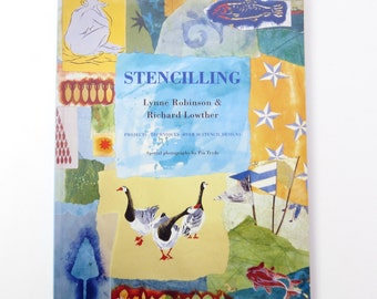 Stencilling book, craft book, used craft book, stencilling projects, stencilling patterns, decorating idea book, home dec book