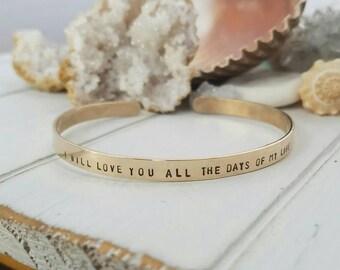 Gold Cuff Bracelet, Personalized gold bracelet, 14kt Gold Filled bracelet, Custom gold bracelet, Cuff bracelet, Adjustable Cuff Bracelet