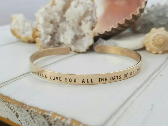 Gold Cuff Bracelet, Personalized gold bracelet, 14kt Gold Filled bracelet, Custom gold bracelet, Cuff bracelet, Adjustable Cuff Bracelet