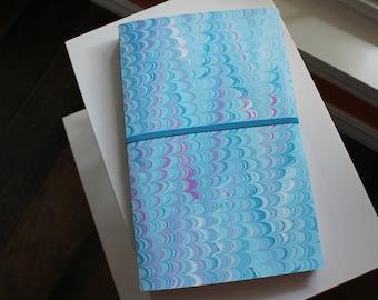 Heart Beats Handmade Blank Book Journal Diary Notebook Sketchbook Hand Bound Marbled Unlined, Travel Journal, Art Journal, Graduation