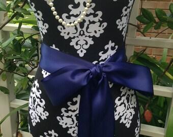 NEW-LOW PRICE-Wedding Sash-Wedding Belt-Bridal Belt-Bridal Sash-cummerbunds-Satin sash-Satin belt-belt-Blue-Navy Blue-Sash-White Sash-Navy