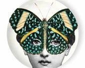 butterfly mask no. 2 Cavalieri melamine plate