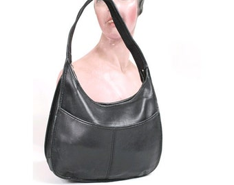 Coach Ergo Medium Black Leather Hobo 9033