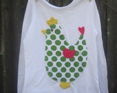 SALE Spotty Dotty Happy Chick Kids T shirt Ready to SHIP XS (6)
