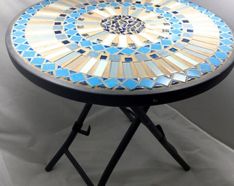 Round Mosaic Side Table