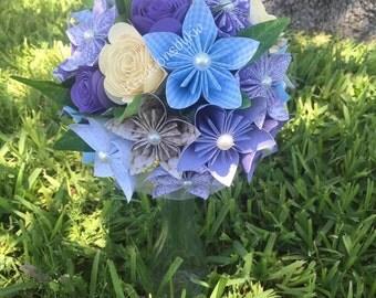 Origami Paper Flower Bouquet / Paper Bridal Bouquet, Kusudama, Origami Bouquet, Flower Arrangement, Wedding, Bridal Bouquet