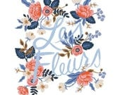 Les Fleurs by Rifle Paper Co. bundle by Anna Bond for Cotton and Steel - PREORDER - Arriving August 2016