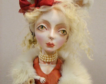 OOAK Art Doll KITTY