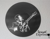 B.B. King Vinyl Record Painting