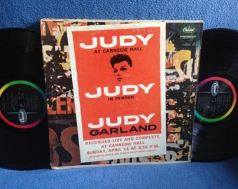 "RARE, Vintage, Judy Garland - ""At Carnegie Hall"", Live Vinyl LP Record Album, Somewhere Over The Rainbow, Chicago, Puttin' On The Ritz"