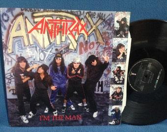 "RARE, Vintage, Anthrax - ""I'm The Man"", Vinyl LP, Record Album, Original 1987 Megaforce First Press, Sabbath Bloody Sabbath, I Am The Law"