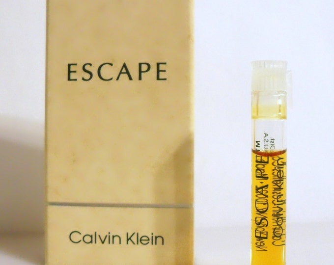 Vintage 1990s Escape by Calvin Klein Sample Vial on Card PERFUME