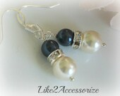 Pearl Earrng, Swarovski Ivory Pearl Earring, Bridesmaid Jewelry, Wedding Jewelry, Bridesmaid Gift, Silver Dangle Earring, Bridal Accessories