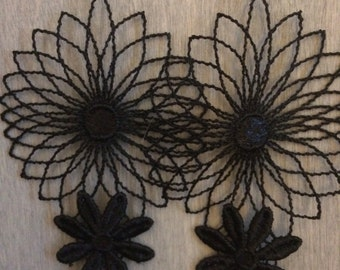 Delicate floral lace earrings