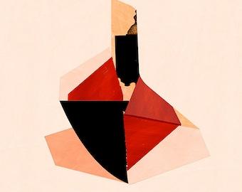 Abstract composition 658 - modern art - minimalism - 60 x 84 cm - A1 - Single original fine art print