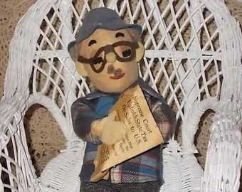 Old Man  Mr Social Security, Retirement Gift, Grandpa,Oldman, Old Man Doll, Cloth Old Man Doll :)S