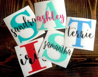 Custom Yeti Vinyl decal |Car Decal | Monogram Decal | Yeti Tumbler Decal | Lap top Decal | tumbler decal | water bottle decal