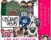 Charlotte's Web clip art - LINE ART