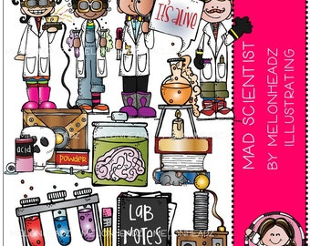 Mad Scientist clip art