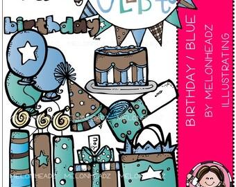 Birthday clip art (Blue) - COMBO PACK