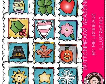 Seasons clip art - Buttonheadz