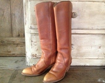 Frye Leather Riding Boots Brown Size 8 US