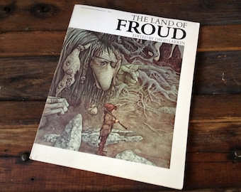 The Land of Froud by Brian Froud, 1977 1st Edition Rare, Illustrated Fairy Goblins Dragons, 42 Color Plates