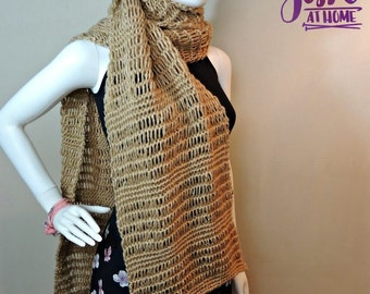 Glitter and Gleam Super Scarf - crochet PDF PATTERN ONLY