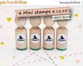 SALE only this KINGS DAY Set of 4 Mini Stamps of your choice (more than 200 different designs)