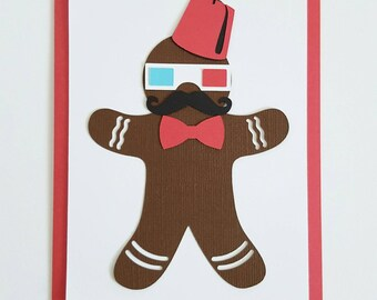 gingerbread man holiday thank you card craft kit