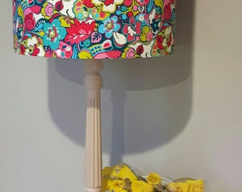 Liberty print BLOOMSBURY Copeland lifestyle garden blue red pink drum lampshade shade pendant table lamp floral  20cm 30 cm 40cm handmade