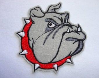 Bulldog Patch, Felt Bulldog Patch, English Bulldog Patch, Dog Patch, bulldog Iron On Patch